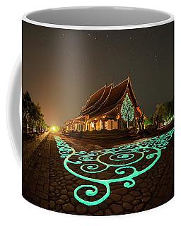 Glowing Wat Sirintorn Wararam Temple, Ubon Coffee Mug