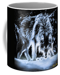 Glowing Wolf In The Gloom Coffee Mug