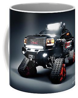 Gmc Pickup Truck On Snow Tracks Coffee Mug