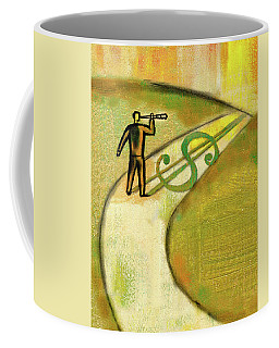 Coffee Mug featuring the painting Goal by Leon Zernitsky