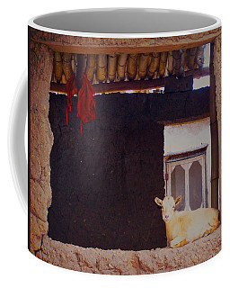 Goat In Window Coffee Mug
