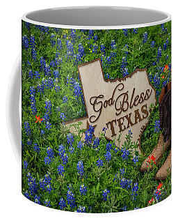 God Bless Texas Coffee Mug