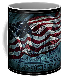 God Country Notre Dame American Flag Coffee Mug