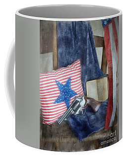 Coffee Mug featuring the photograph God, Guns And Old Glory by Benanne Stiens