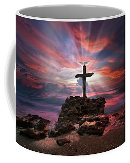 Coffee Mug featuring the photograph God Is My Rock Special Edition Fine Art by Justin Kelefas