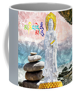 Coffee Mug featuring the mixed media Goddess Of Mercy by Lita Kelley