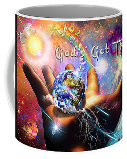 Coffee Mug featuring the digital art God's Got This by Dolores Develde