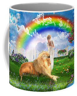 Coffee Mug featuring the digital art God's Perfect Promise  by Dolores Develde