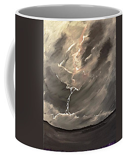 Coffee Mug featuring the painting Going Down A Storm by Scott Wilmot