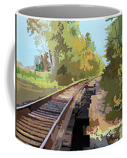 Going Down The Railroad Track Coffee Mug