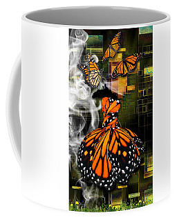 Coffee Mug featuring the mixed media Going The Distance by Marvin Blaine