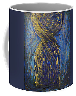 Gold And Blue Latte Stone Coffee Mug