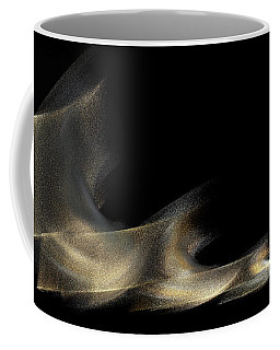 Gold And Platinum Shimmer On Black Coffee Mug