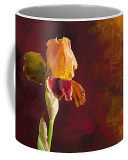 Gold And Red Iris Coffee Mug