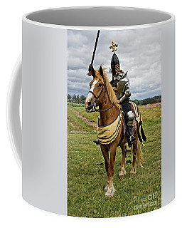 Gold And Silver Knight Coffee Mug
