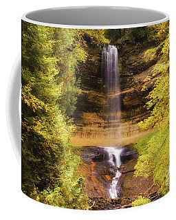 Gold At Munising Falls Coffee Mug
