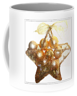 Gold Ball Star Coffee Mug