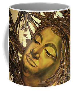 Gold Buddha Head Coffee Mug