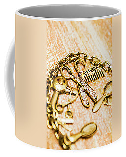 Gold Class Hair Styling Background Coffee Mug
