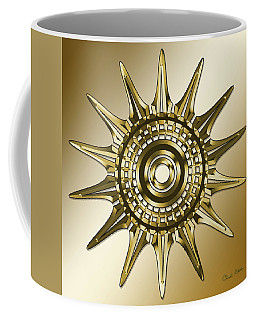 Coffee Mug featuring the digital art Gold Coffee 11 by Chuck Staley