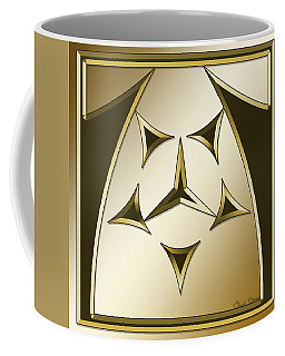 Coffee Mug featuring the digital art Gold Coffee 7 - Chuck Staley by Chuck Staley