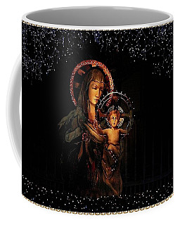 Coffee Mug featuring the photograph Gold Edged Madonna And Child by Ellen Barron O'Reilly