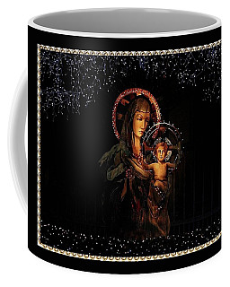 Coffee Mug featuring the photograph Gold Edged Madonna And Child by Ellen O'Reilly