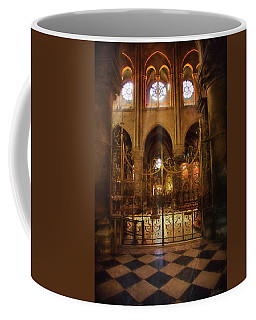 Coffee Mug featuring the photograph Gold Gate At Notre Dame by John Rivera