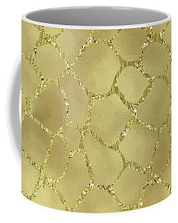 Gold Glam Giraffe Print Coffee Mug