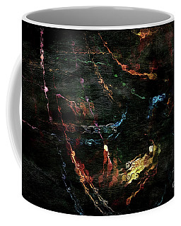 Coffee Mug featuring the digital art Gold In The Grunge by Margie Chapman