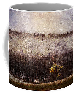 Gold Leafed Tree In Snow Coffee Mug