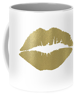 Gold Lips Kiss Coffee Mug