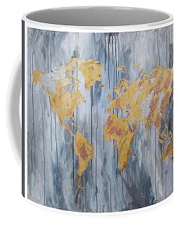 Gold Map Coffee Mug