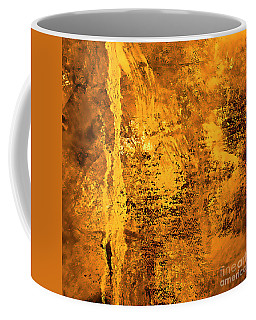 Coffee Mug featuring the painting Gold by Michael Rock