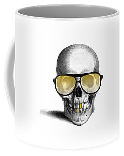 Skull With Gold Teeth And Sunglasses Coffee Mug