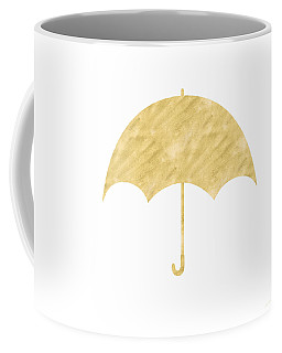 Gold Umbrella- Art By Linda Woods Coffee Mug