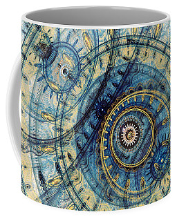 Golden And Blue Clockwork Coffee Mug