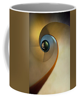 Golden And Brown Spiral Staircase Coffee Mug