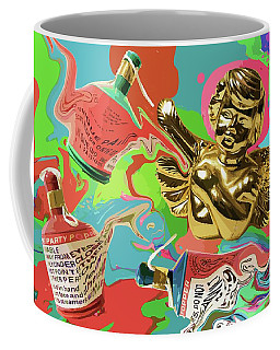 Golden Angel With Party Poppers Coffee Mug