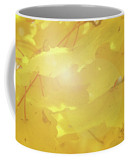 Golden Autumn Leaves Coffee Mug