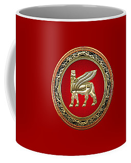 Golden Babylonian Winged Bull  Coffee Mug