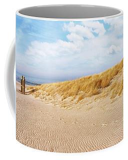 Golden Beach Walk Coffee Mug by Kathi Mirto