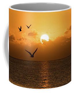 Golden Birds Sunrise Delray Beach Florida Coffee Mug