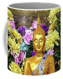 Golden Buddha In The Blessing Position Coffee Mug