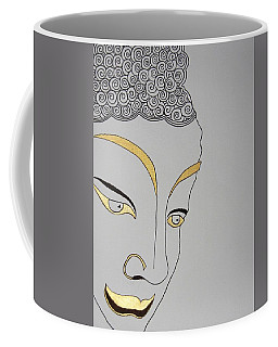 Golden Buddha Coffee Mug by Kruti Shah