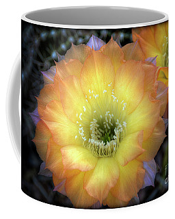 Golden Cactus Bloom Coffee Mug by Saija  Lehtonen