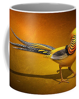 Golden Chinese Pheasant Coffee Mug