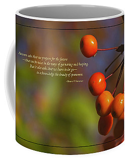 Golden Crab Apples In The Sun Coffee Mug