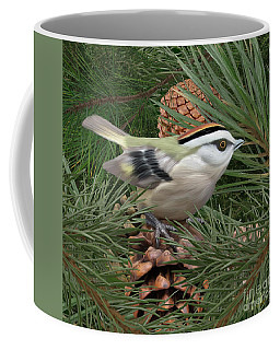 Golden Crowned Kinglet Coffee Mug by Walter Colvin