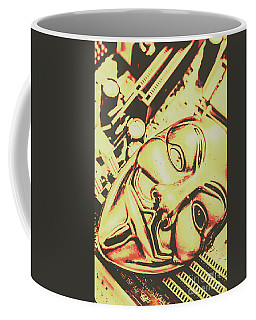 Golden Cyber Rebellion Coffee Mug